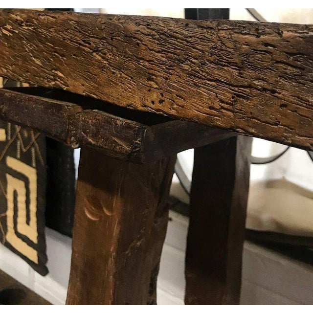 Brown 19th Century Wooden Console Table For Sale - Image 8 of 9