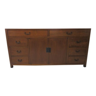 Mid Century Walnut Credenza/Chest by American of Martinsville For Sale