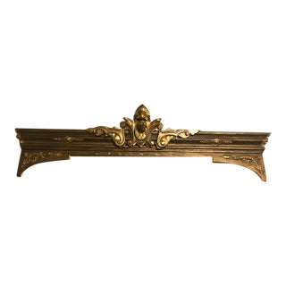 Antique Ornate Victorian Style Gilt Fireplace Mantel Topper For Sale