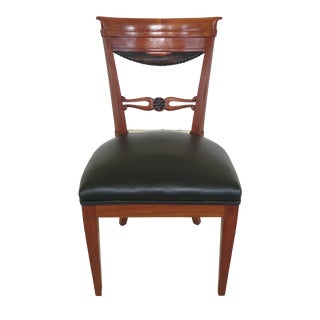 1940s Vintage Biedermeier Style Cherry Side Chair For Sale