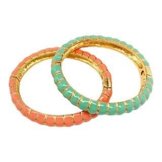 Enamel Bracelets by Kenneth Jay Lane For Sale