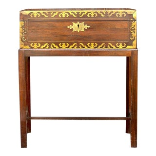 Antique English Lap Desk in Rosewood For Sale