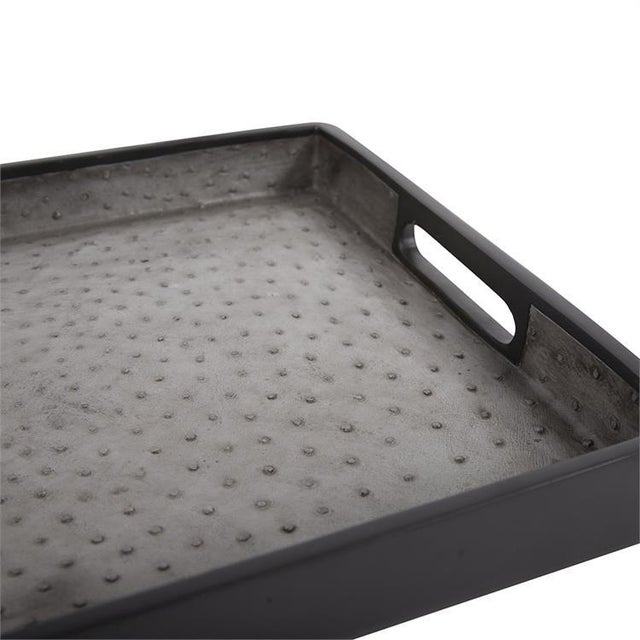 2020s Kenneth Ludwig Faux Ostrich Skin Tray For Sale - Image 5 of 6
