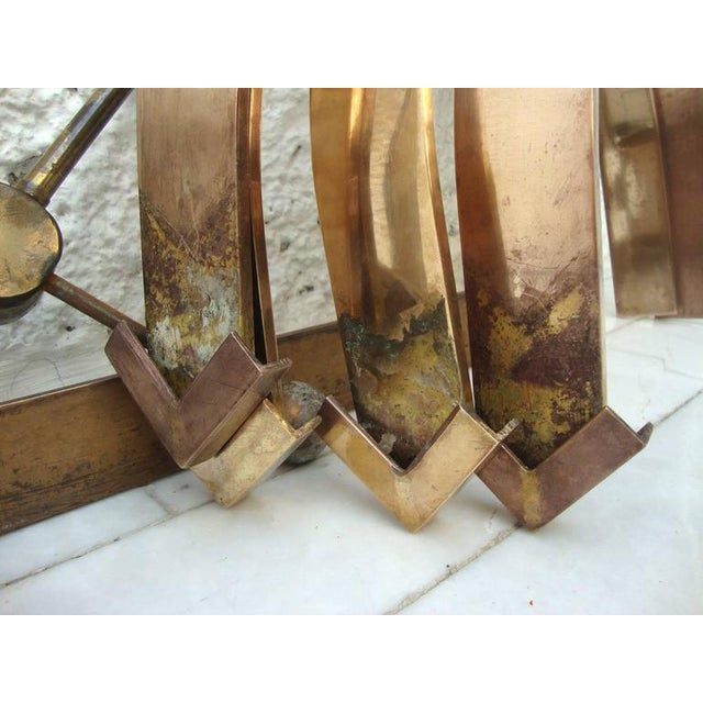 Modern Sculptural Side Table in Brass For Sale - Image 3 of 8