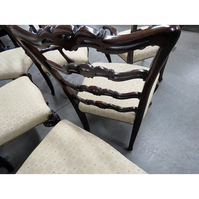 Georgian Style Ladder Back Dining Chairs - Set of 10 For Sale In Philadelphia - Image 6 of 8