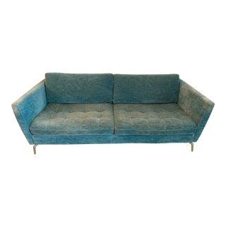 Modern BoConcept Turquoise Napoli Fabric & Aluminum Legs Osaka Sofa For Sale
