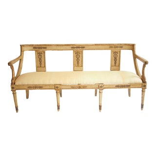 Early 19th Century Italian Neoclassical Settee For Sale