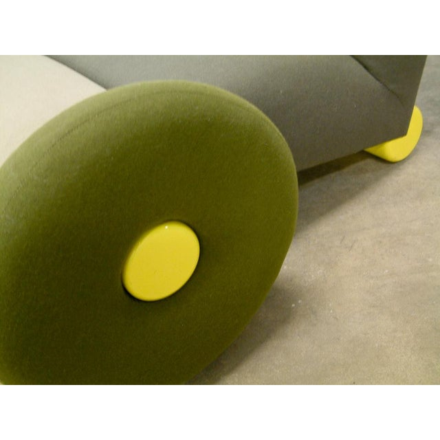 Italy 1983 A very rare Astoria chair by Matteo Thun for Memphis, Milano, Italy. Upholstered wool lounge chair with...