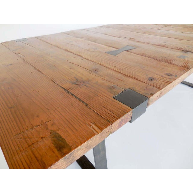 1920s Reclaimed Wood Table For Sale - Image 5 of 8