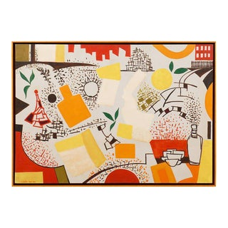 Fabulous Contemporary Painting by Arnold Weber For Sale