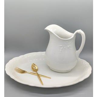19th Century English J. & G. Meakin White Ironstone Pitcher Preview