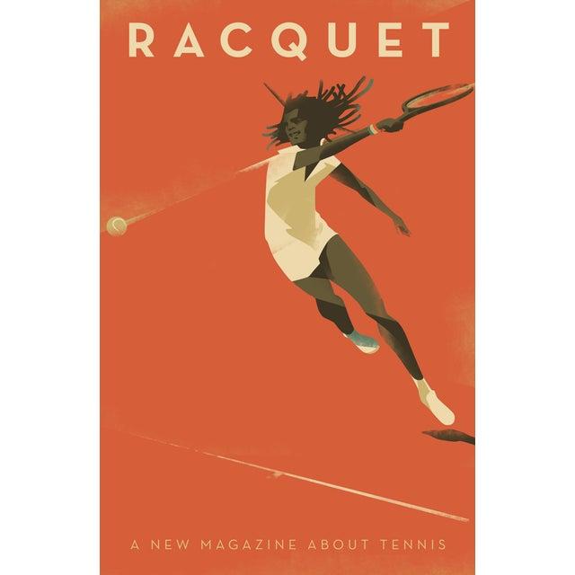 """Racquet"" Minimalist Danish Modern Poster - Image 3 of 3"