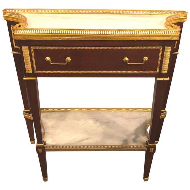 Russian Neoclassical Style Console/Server or Commode With Marble Top For Sale - Image 13 of 13