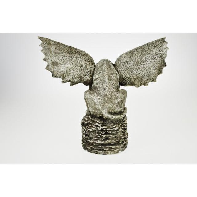 Vintage Gothic Grotesque Gargoyle Winged Dog Statue - Image 7 of 11