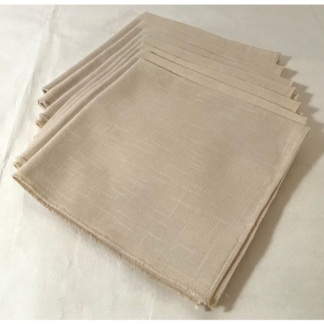 Nice set of 7 vintage linen look napkins.