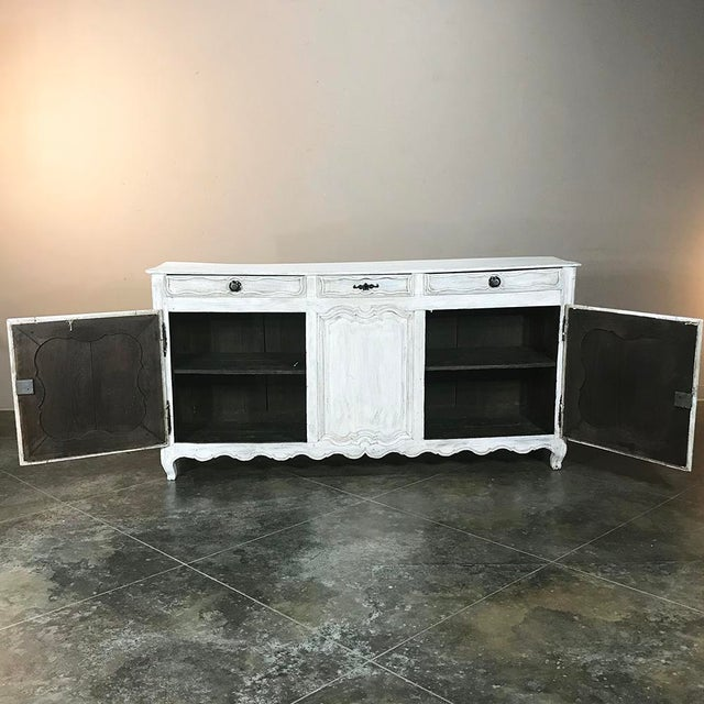 White 18th Century Country French Whitewashed Buffet For Sale - Image 8 of 13