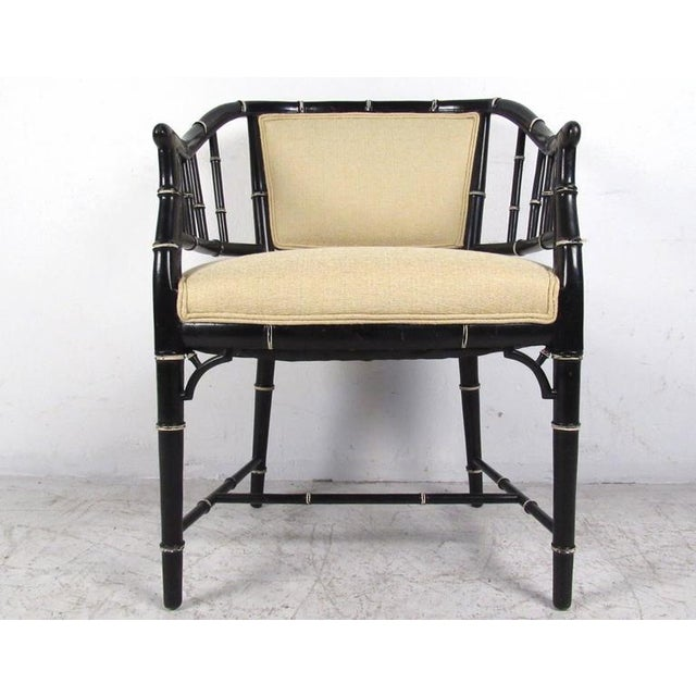 Mid-Century Modern Bamboo Style Dining Chairs- Set of 4 For Sale - Image 4 of 10