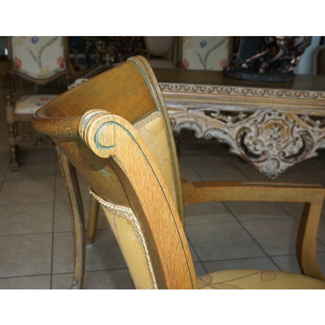 Hand-Carved European Accent Chairs - a Pair - Image 6 of 9