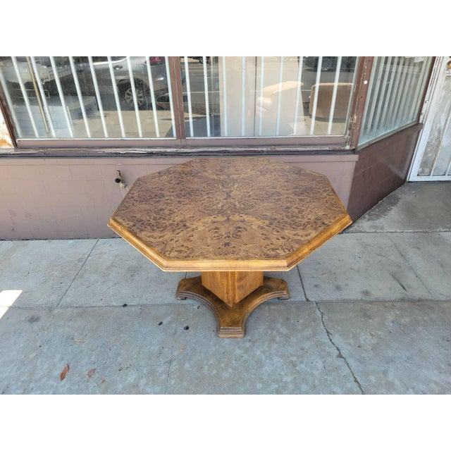Wood Vintage Modern Wood Dining Table For Sale - Image 7 of 13