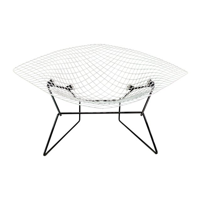 Vintage Mid Century Modern Large Diamond Chair by Harry Bertoia for Knoll For Sale - Image 11 of 11
