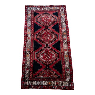 "Antique Persian Karache Serapi Heriz Viss Rug - 3'4"" x 6'8"""