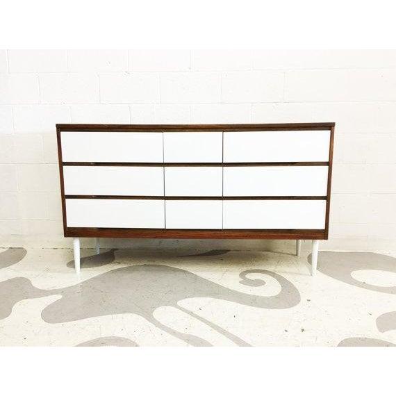 Two-Tone Mid-Century Modern Dresser - Image 6 of 6