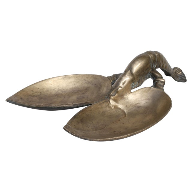 Vintage Brass Lobster Dish - Image 1 of 5