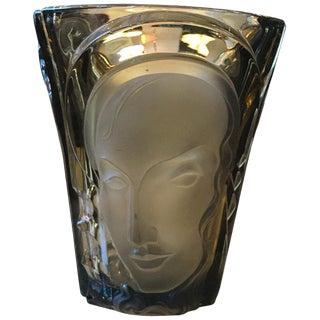 Oggetti Art Deco Glass Vase For Sale