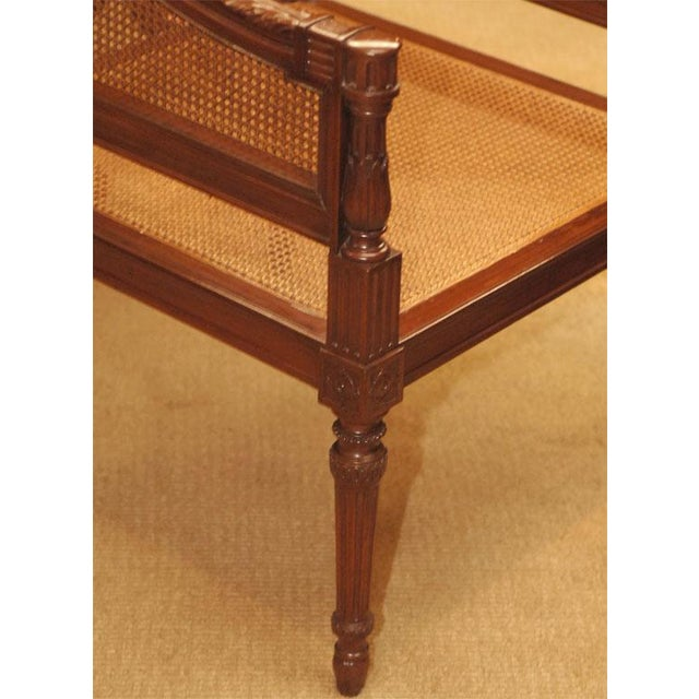 Large Caned Bergere Chair For Sale In San Francisco - Image 6 of 8