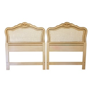Drexel Heritage French Provincial Cane Twin Headboards - a Pair