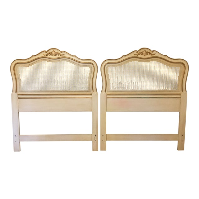 Drexel Heritage French Provincial Cane Twin Headboards - a Pair For Sale