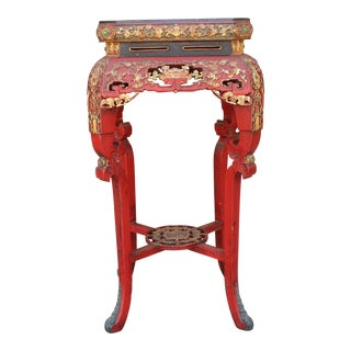 Antique Rustic Chinese Side Table