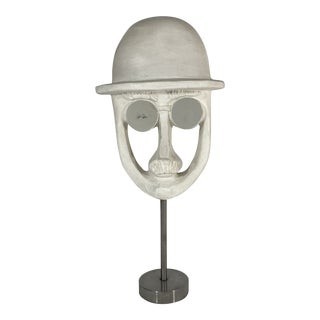 David Gil Bennington Potters Mirrored Glasses Mid Century Sculpture Mask For Sale