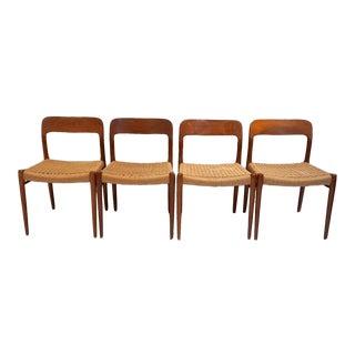 Niels Møller Danish Mid-Century Modern Teak Chairs-Set of 4 For Sale