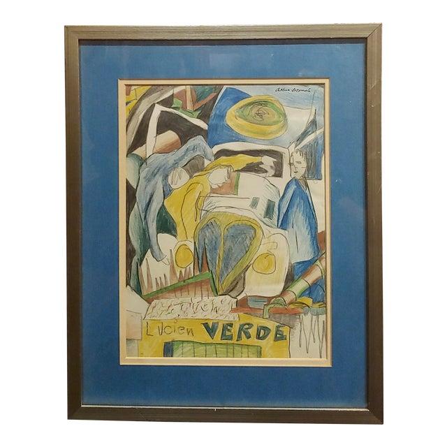 Arthur Secunda - Car Accident - Original Painting For Sale