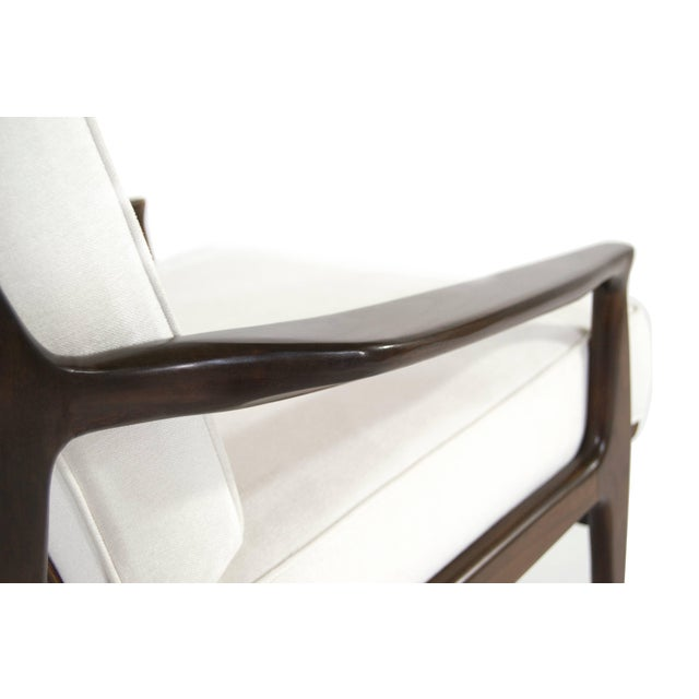 Milo Baughman for Thayer Coggin Walnut Archie Lounge Chairs For Sale - Image 10 of 11
