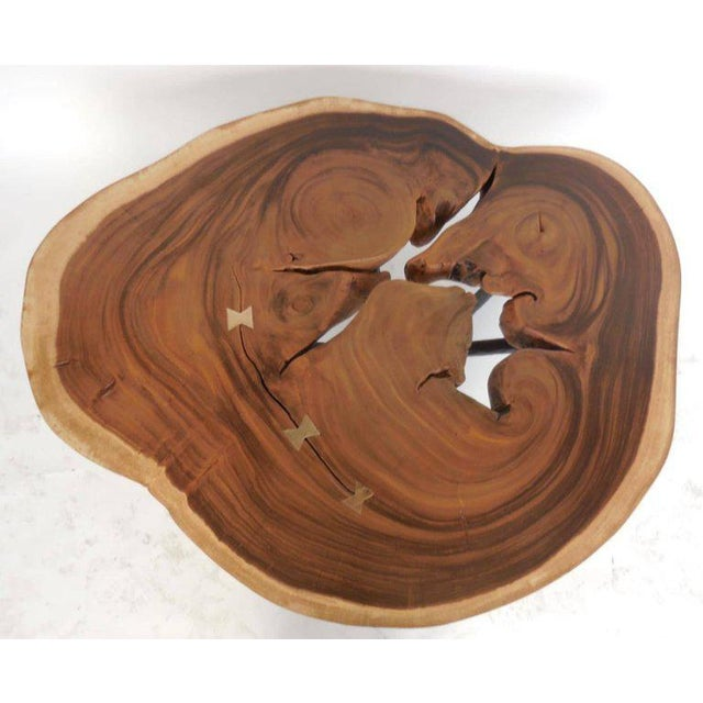 Free-Form Wood Coffee Table For Sale - Image 4 of 10