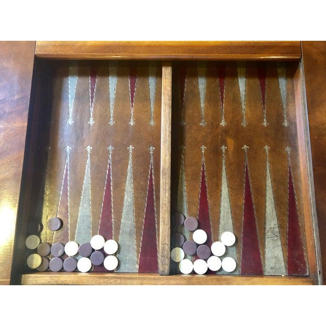 Mahogany Federal Style Smith and Watson Game / Card Table For Sale - Image 10 of 13