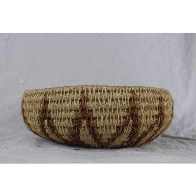 Ghanian Tribal Thick Brown Starburst Basket For Sale - Image 4 of 5