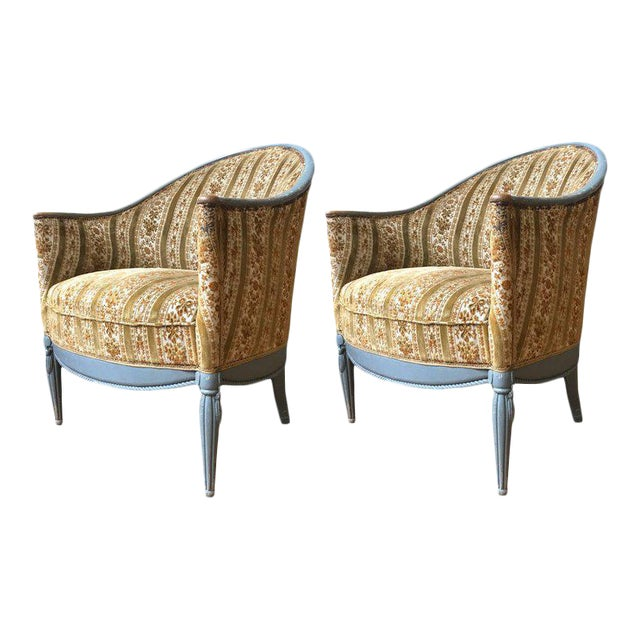 Pair of French Art Deco Style Armchairs - Image 1 of 9