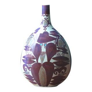 Faience Bottle Vase by Kari Christensen for Royal Copenhagen For Sale