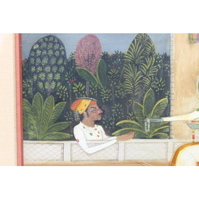 Early 19th Century Nice 19/18 C. Indian Gouache Painting For Sale - Image 5 of 7