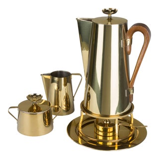 Coffee Service by Tommi Parzinger for Dorlyn Brass - Set of 4 For Sale