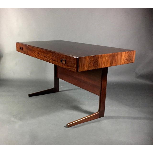 """1970 """"Cassette"""" Desk in Rosewood, Style of Georg Petersens For Sale - Image 12 of 12"""
