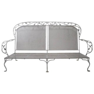 Dramatic Wrought Iron Sofa Attributed to Woodard For Sale