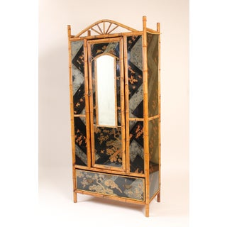 1930s Chinoiserie Decorated Bamboo Armoire Preview