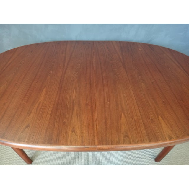 Dux Danish Modern Oval Teak Dining Table - Image 3 of 7