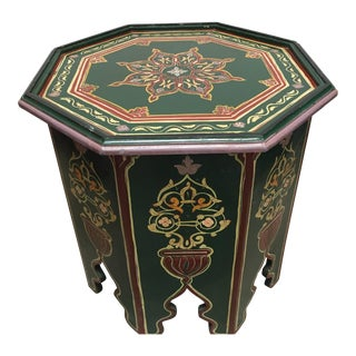 Moroccan Hand-Painted Table With Moorish Designs For Sale