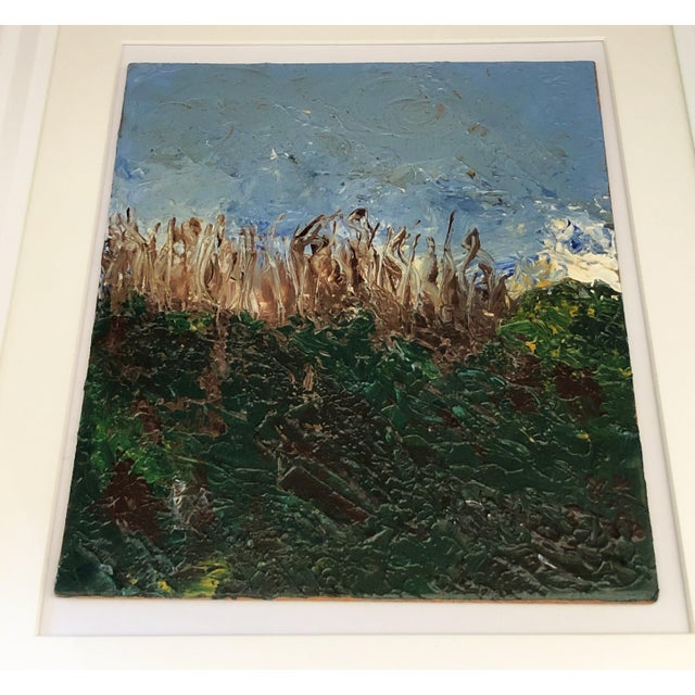 Acrylic on Masonite Framed Landscape For Sale In New York - Image 6 of 6
