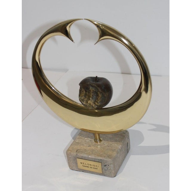"Abstract Vintage Meloniski Bronze Sculpture ""Adamo Ed Eva"" For Sale - Image 3 of 13"